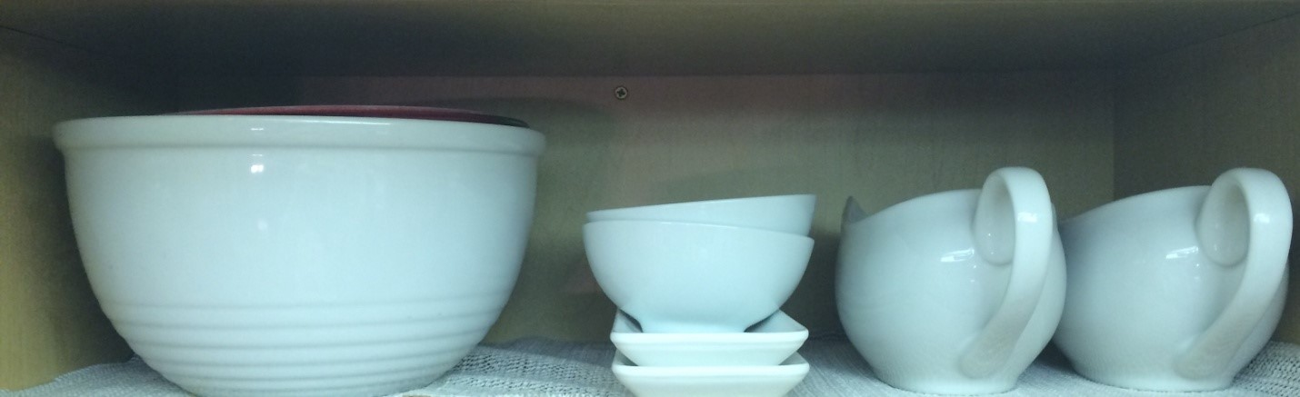 white porcelain dishes grouped together