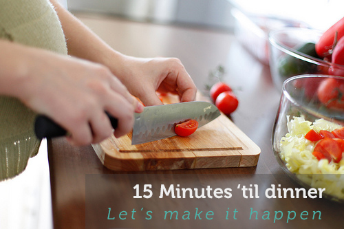 Dinner in 15 Minutes or Less graphic