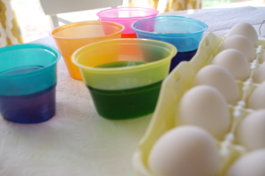 Easter Eggs ready to be dyed