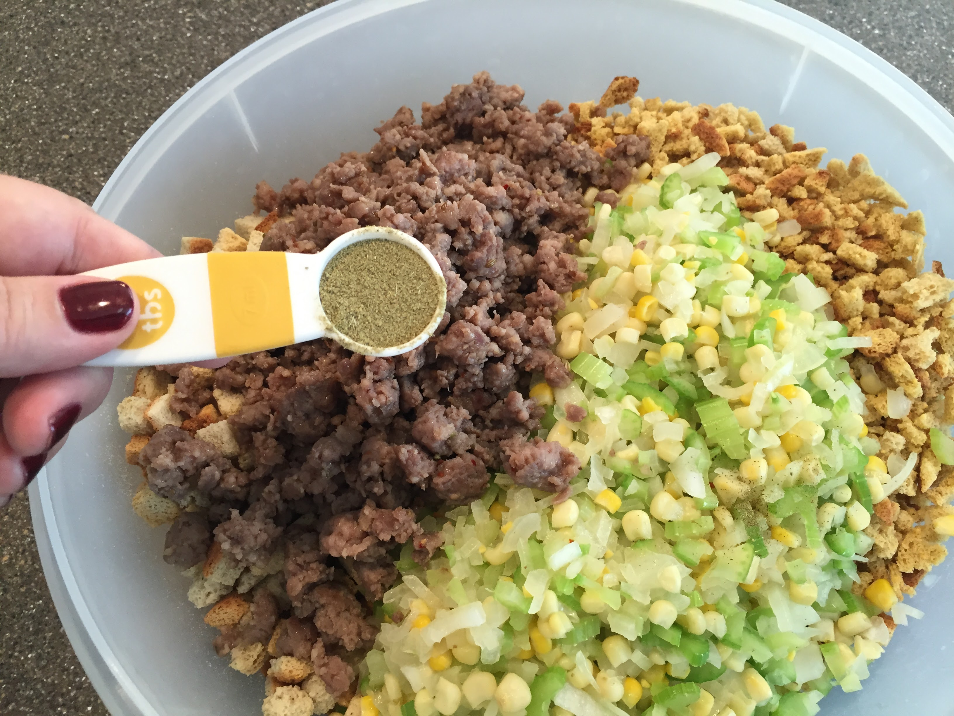 Poultry seasoning is added to stuffing with sausage recipe includes poultry seasoning