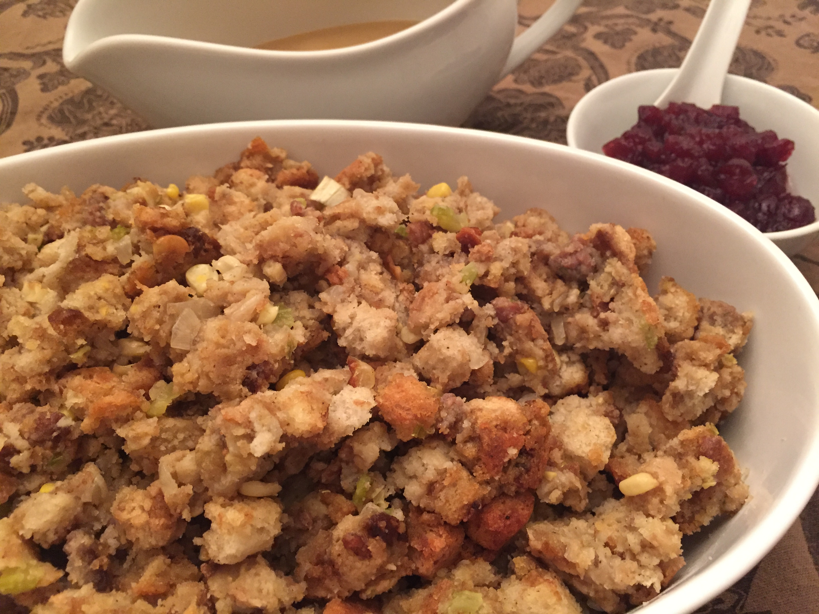 Italian sausage is a nice addition to a traditional stuffing recipe