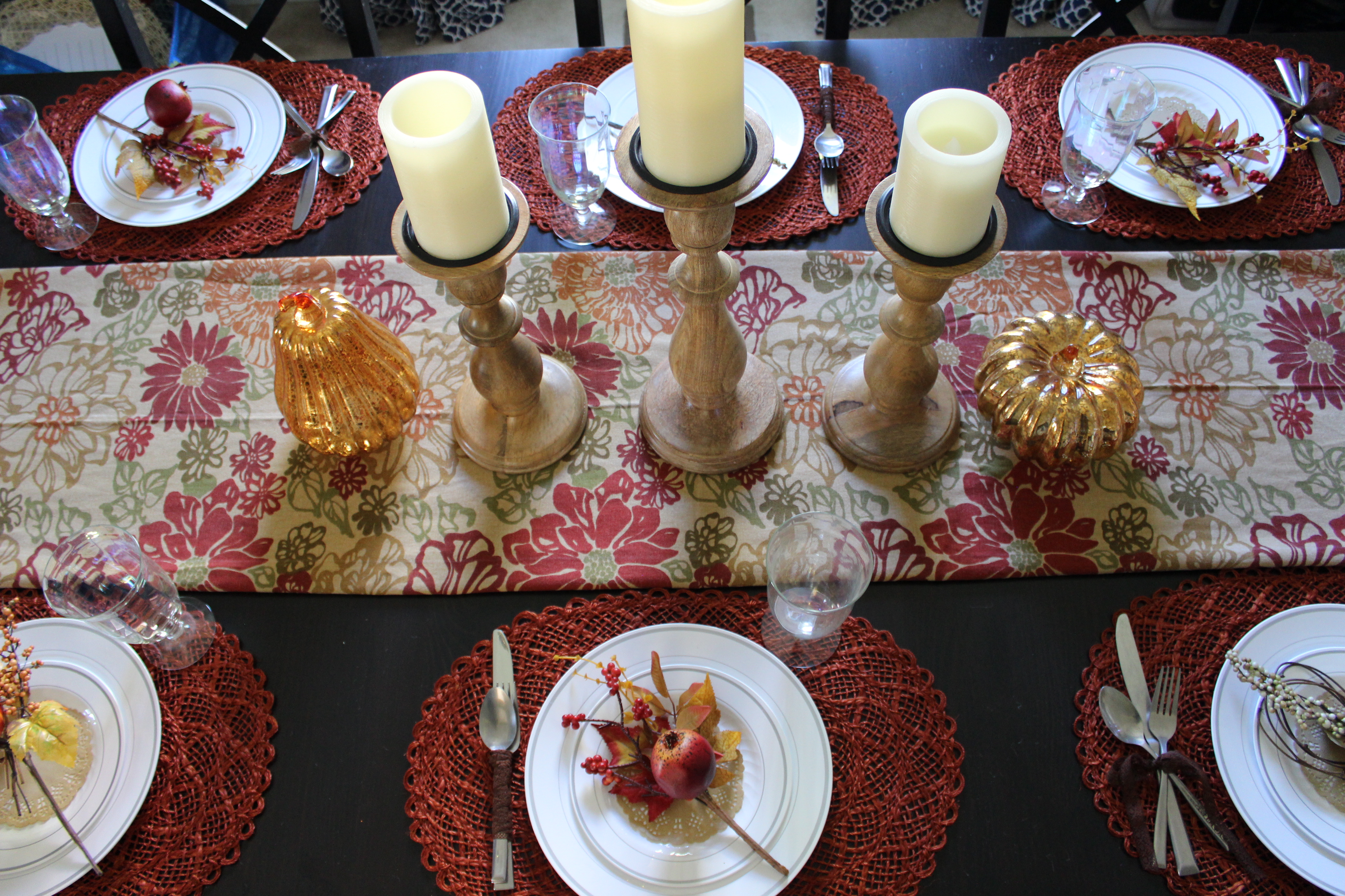 Simple thanksgiving table decor the finishing touches