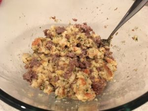 Stuffing and Sausage Mixture
