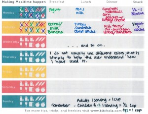 Simplifying Mealtime with an Easy-to-Use Menu Planner and the 5 basic Food Groups