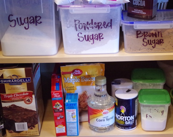 Keep all baking supplies together for ease