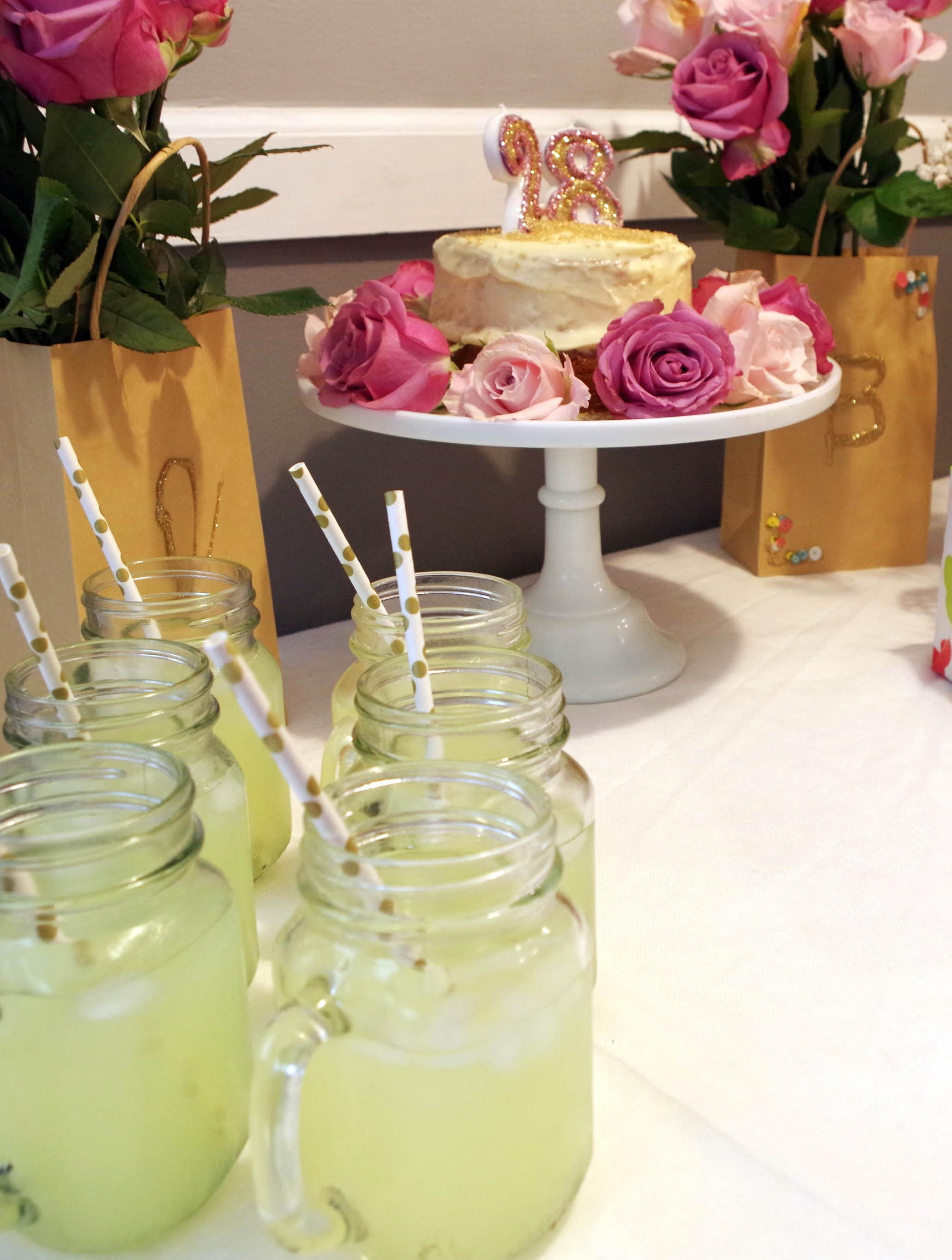 Lemonade in mason jars with polka-dot straws