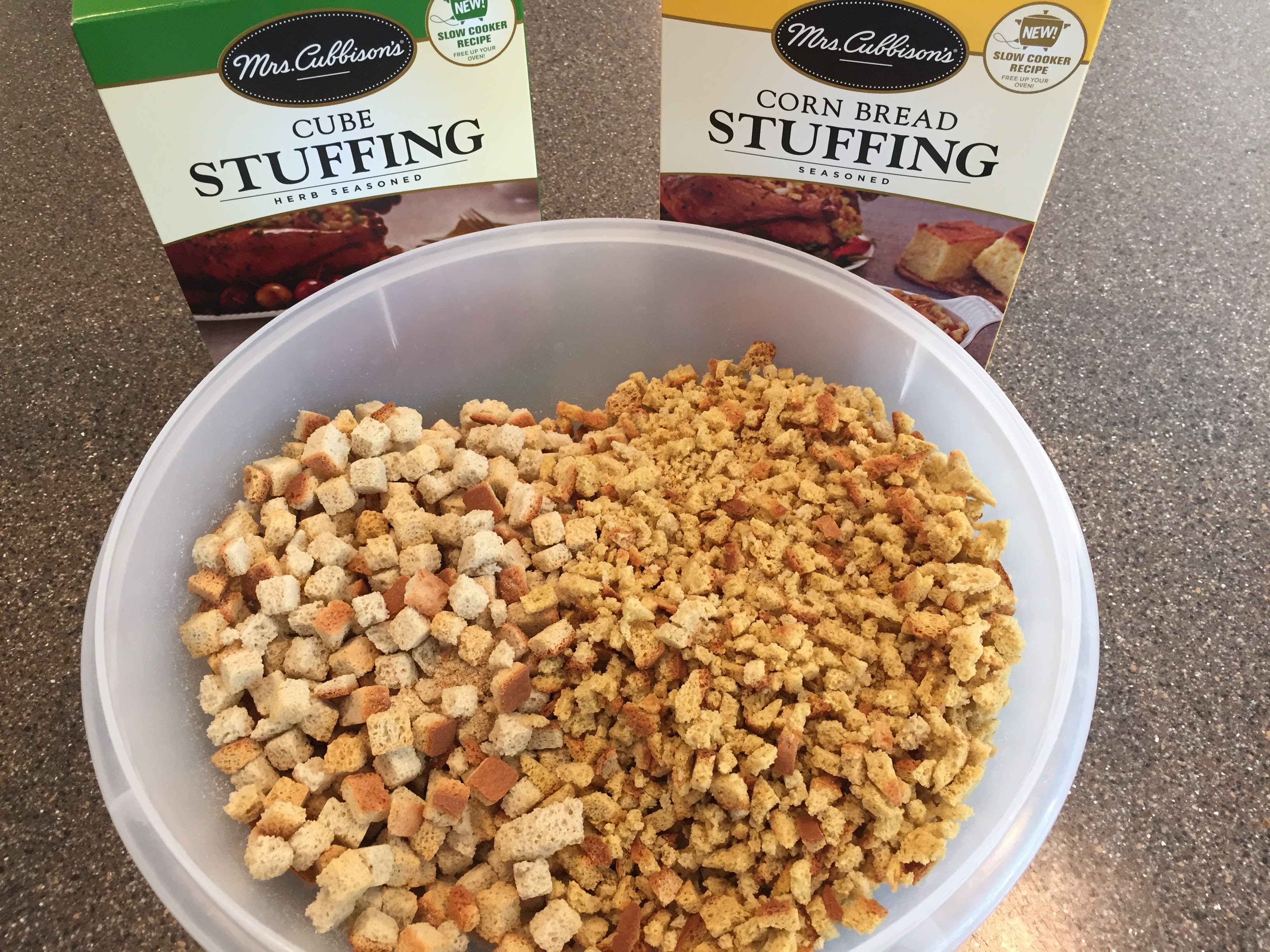 Cornbread stuffing combined with seasoned bread crumbs for stuffing with sausage recipe