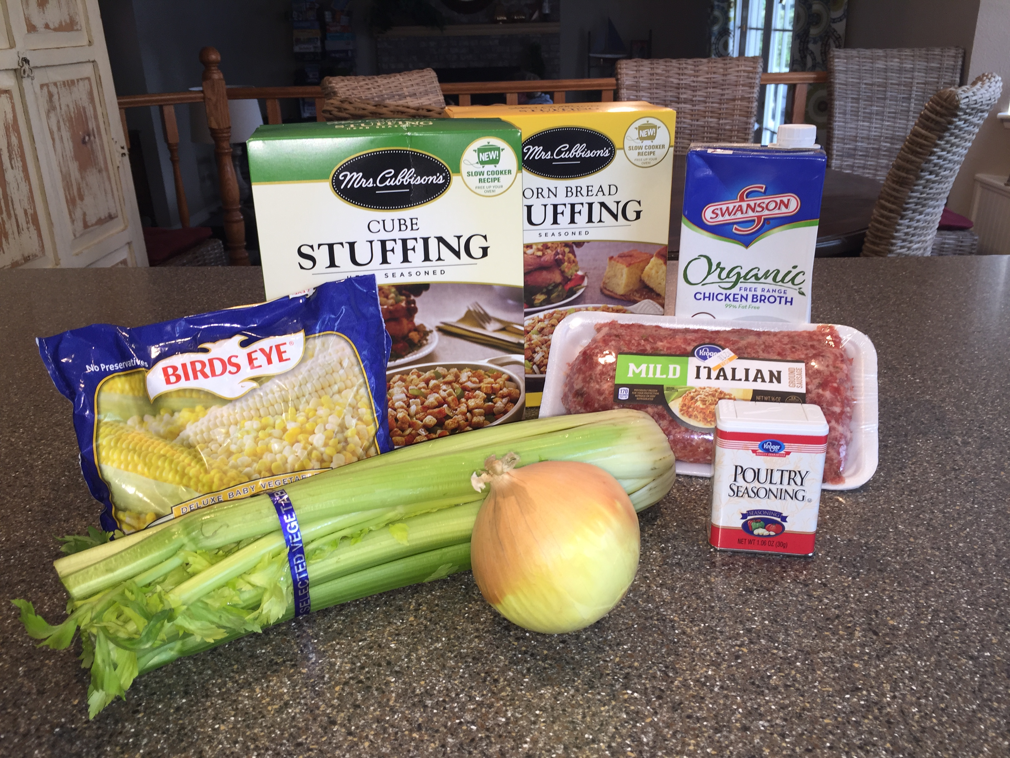 Ingredients for Stuffing with Sausage recipe