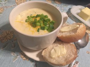 Quick Dinner Fix – Cheesy, Veggie Soup